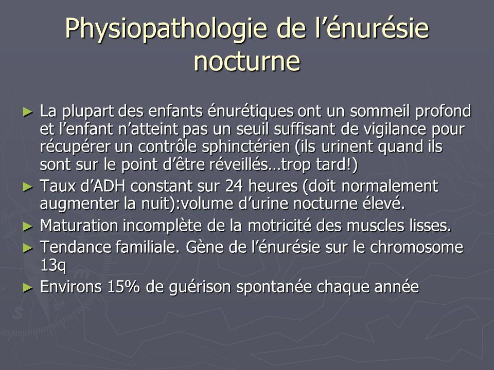 Physiopathologie de l'énurésie nocturne