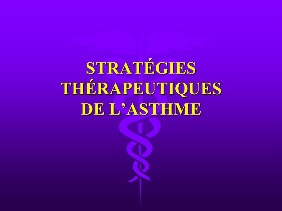 STRATÉGIES THÉRAPEUTIQUES DE L'ASTHME