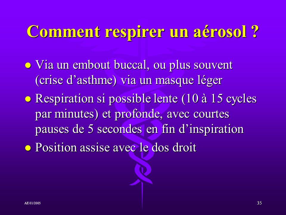 Comment respirer un aérosol