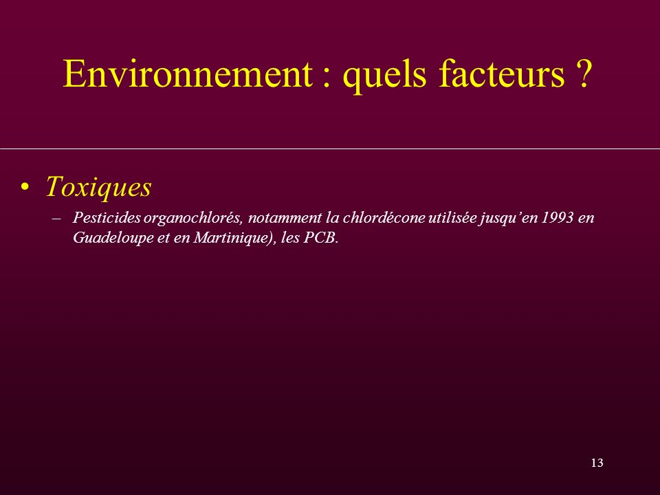Environnement : quels facteurs