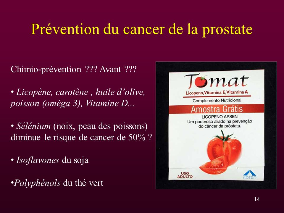 Prévention du cancer de la prostate