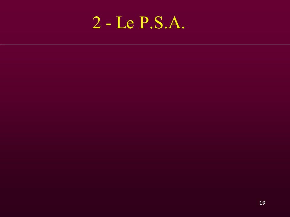 2 - Le P.S.A. PSA baisse l'été de 10% environ