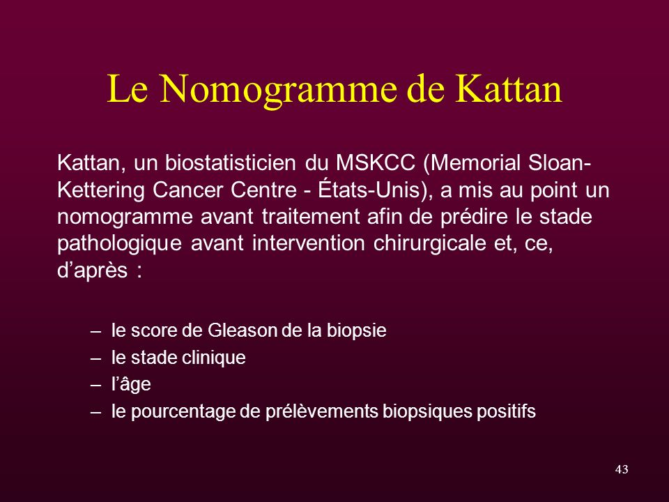 Le Nomogramme de Kattan