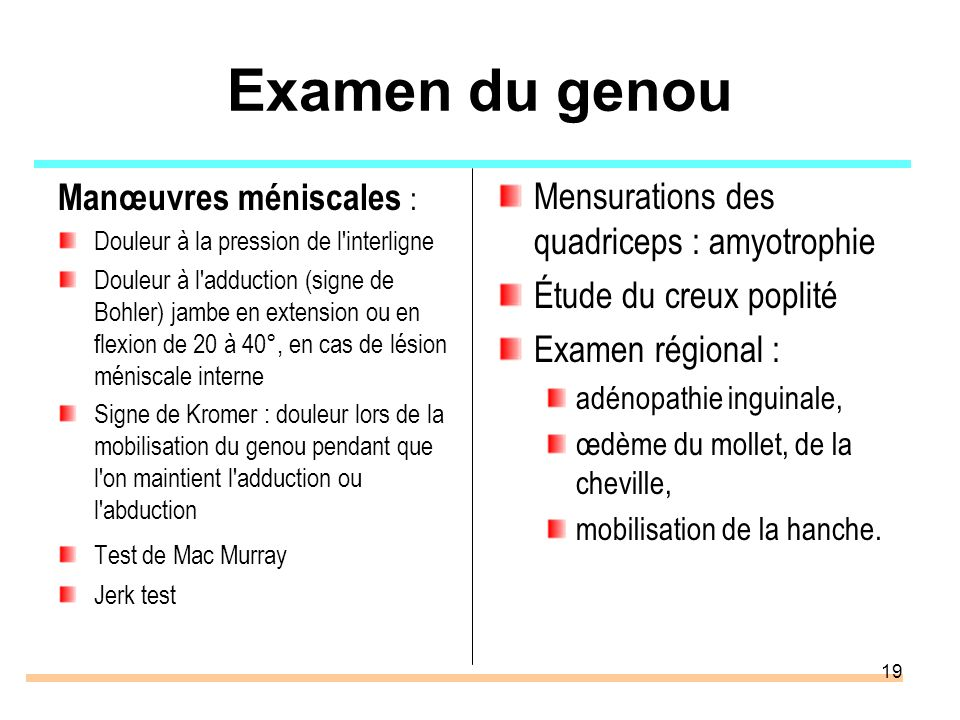 Pathologie p ri articulaire membre inf rieur ppt video for Douleur genou exterieur