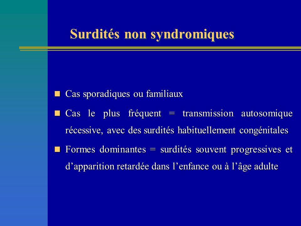 Surdités non syndromiques