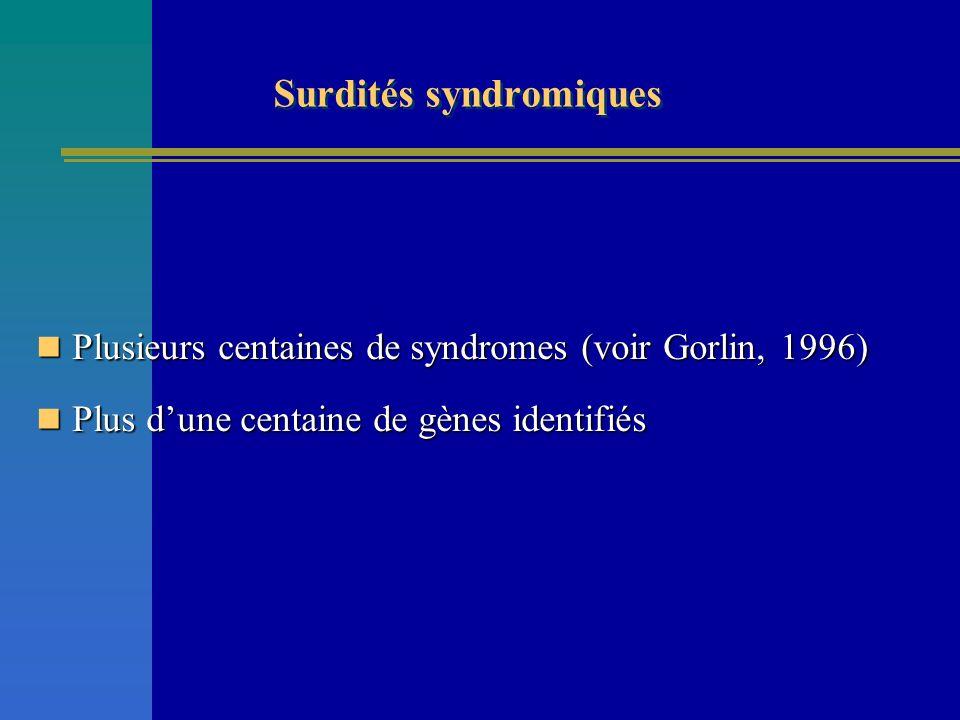 Surdités syndromiques