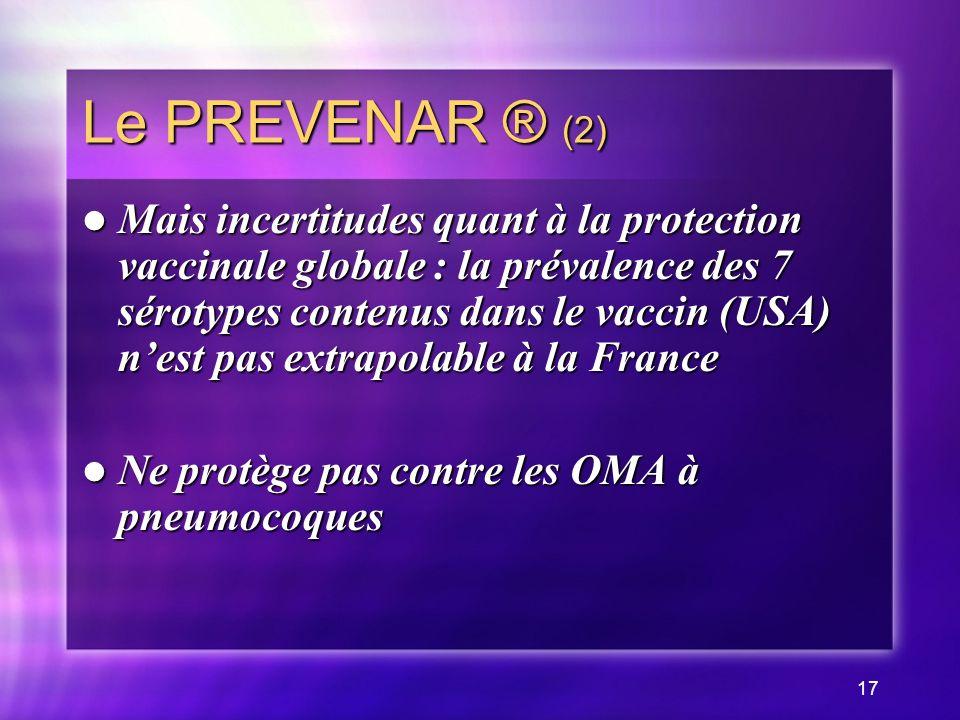 Le PREVENAR ® (2)