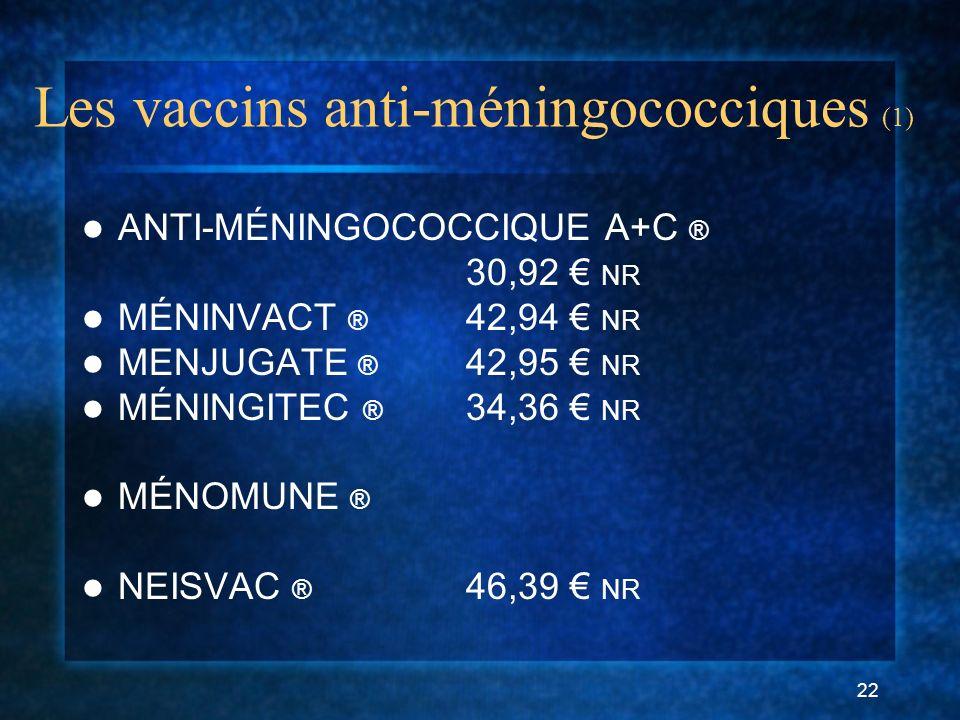 Les vaccins anti-méningococciques (1)