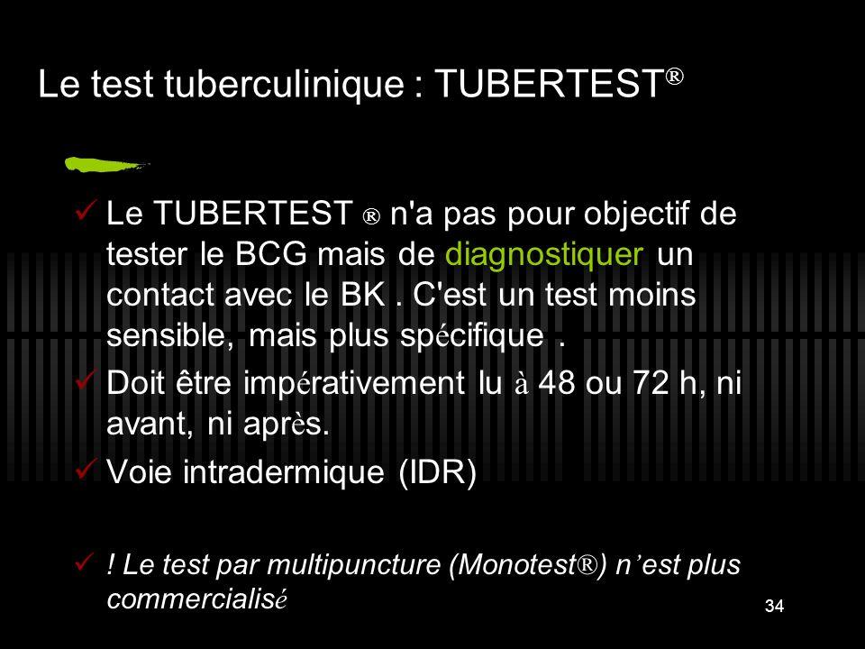 Le test tuberculinique : TUBERTEST®
