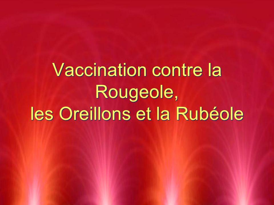 Vaccination contre la Rougeole, les Oreillons et la Rubéole