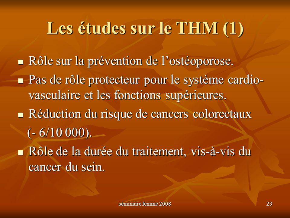 Les études sur le THM (1)
