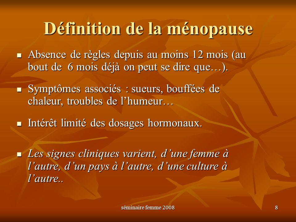 Définition de la ménopause