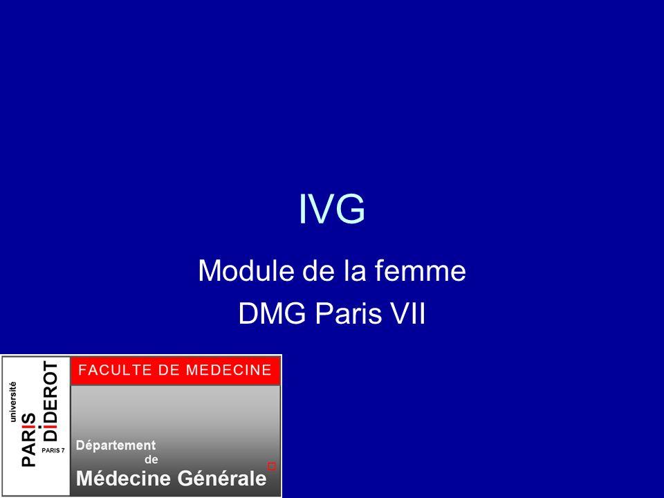 Module de la femme DMG Paris VII