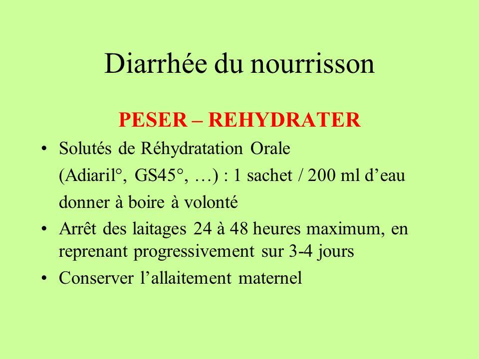 Diarrhée du nourrisson