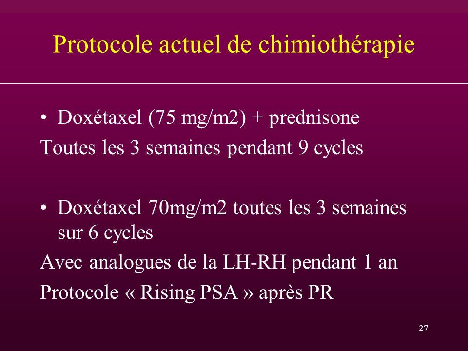 Protocole actuel de chimiothérapie