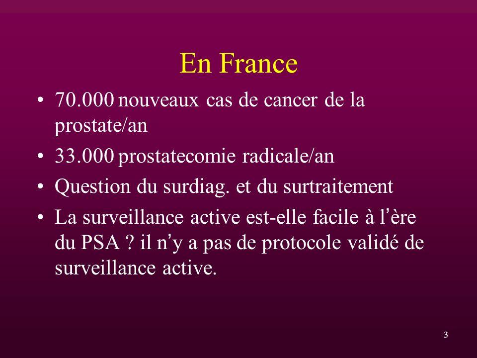En France 70.000 nouveaux cas de cancer de la prostate/an