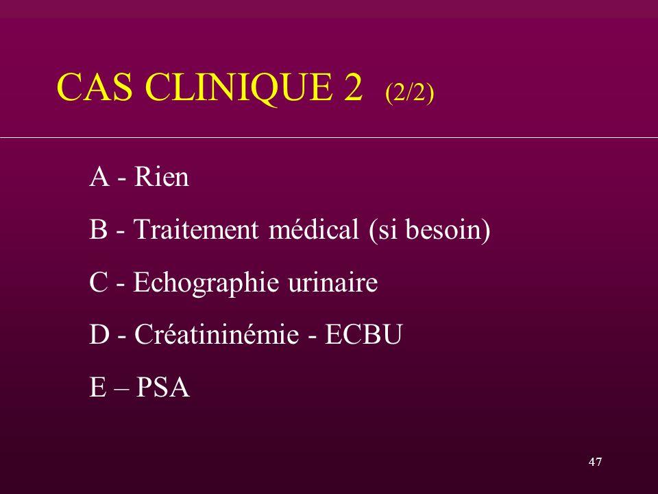 CAS CLINIQUE 2 (2/2) B - Traitement médical (si besoin)