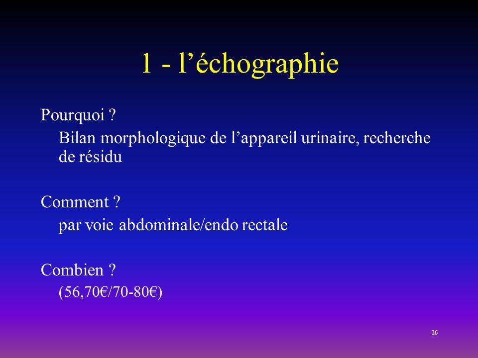 1 - l'échographie Pourquoi