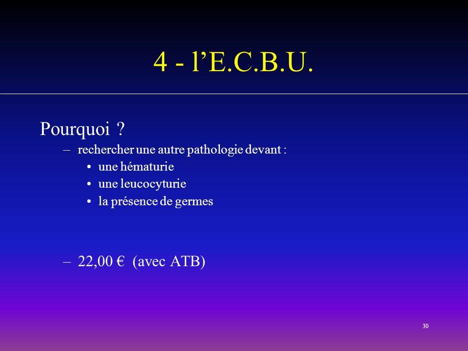 4 - l'E.C.B.U. Pourquoi 22,00 € (avec ATB)