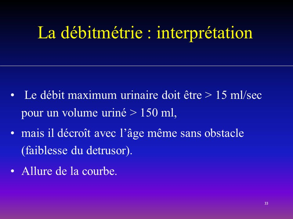 La débitmétrie : interprétation