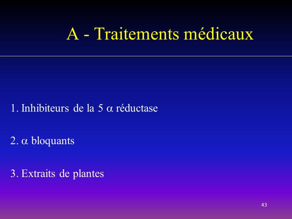 A - Traitements médicaux