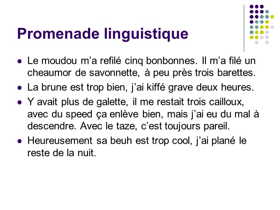Promenade linguistique