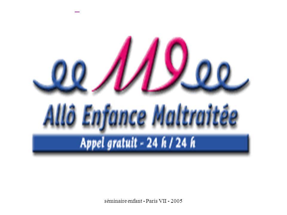 séminaire enfant - Paris VII - 2005