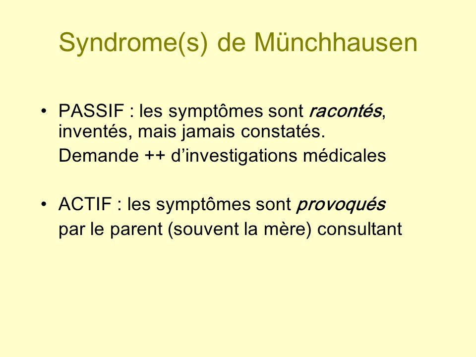 Syndrome(s) de Münchhausen