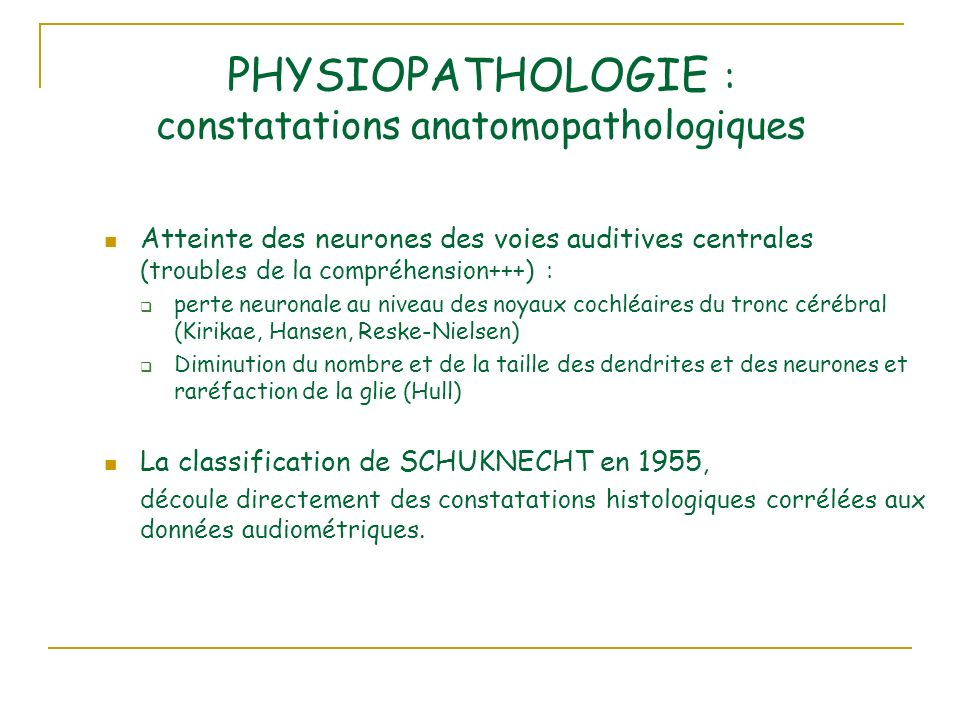 PHYSIOPATHOLOGIE : constatations anatomopathologiques