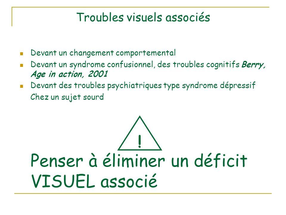Troubles visuels associés