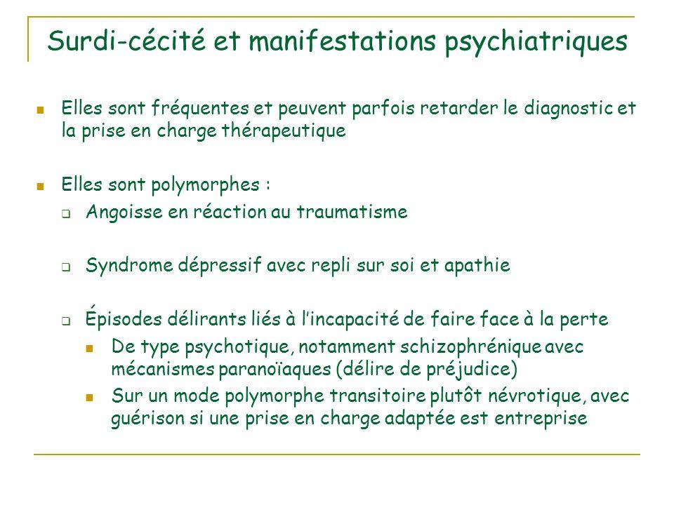 Surdi-cécité et manifestations psychiatriques
