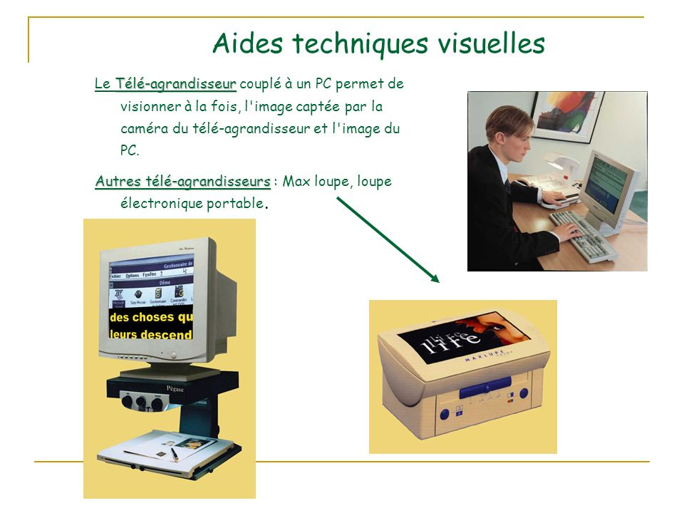 Aides techniques visuelles