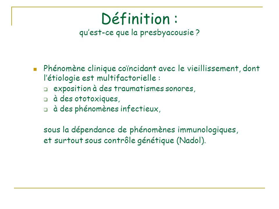 Définition : qu'est-ce que la presbyacousie