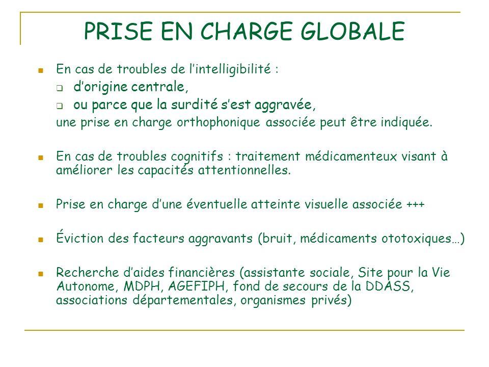 PRISE EN CHARGE GLOBALE