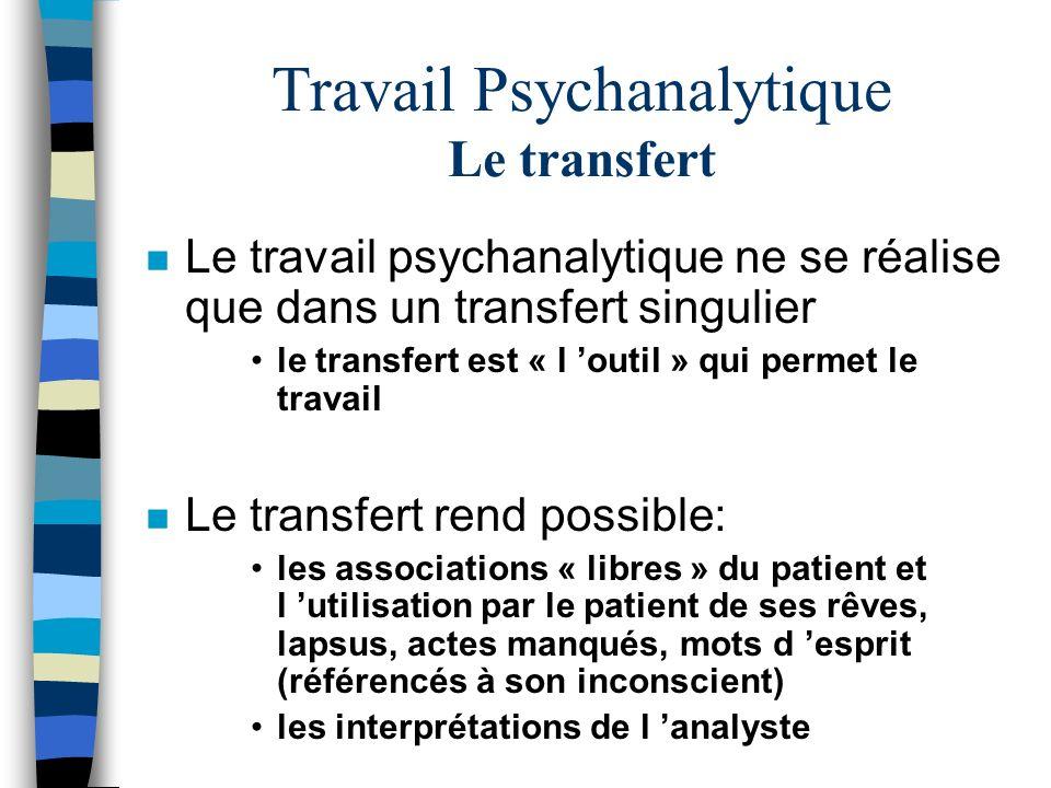 Travail Psychanalytique Le transfert