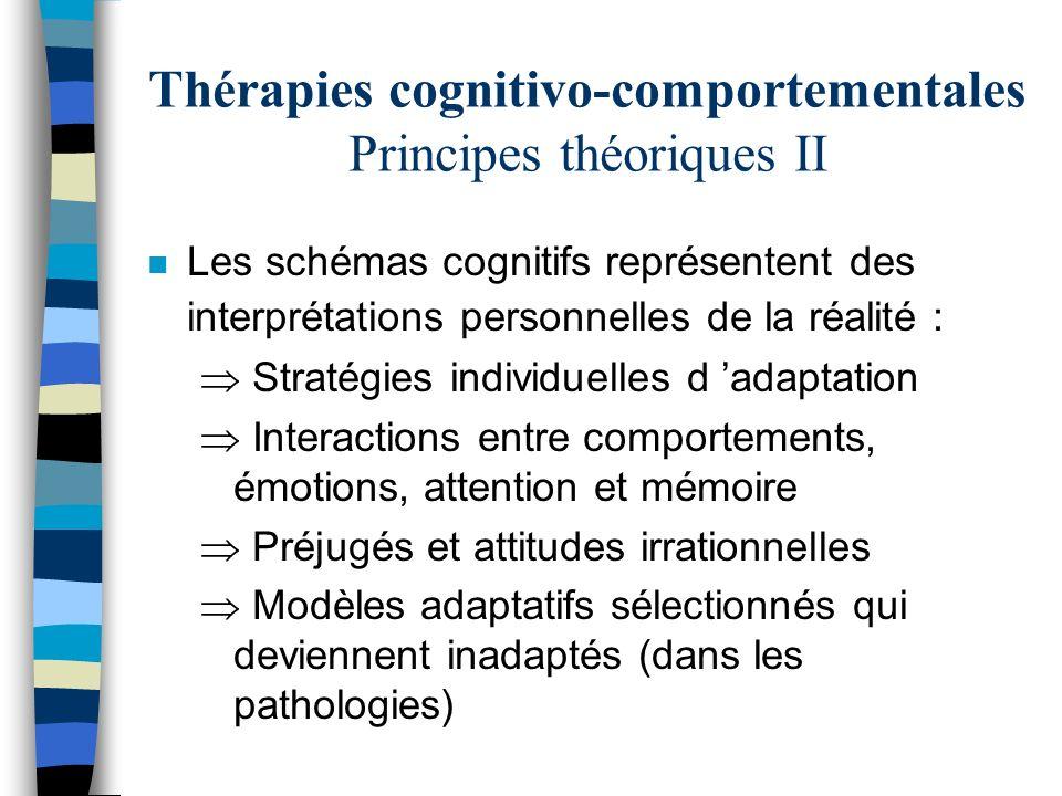 Thérapies cognitivo-comportementales Principes théoriques II