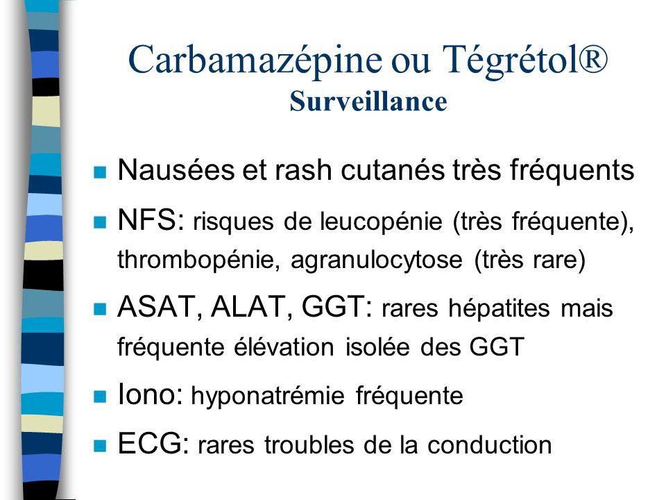 Carbamazépine ou Tégrétol® Surveillance