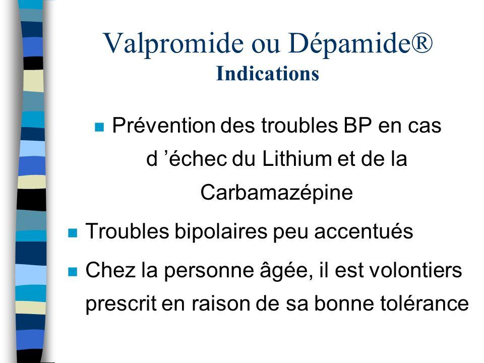 Valpromide ou Dépamide® Indications