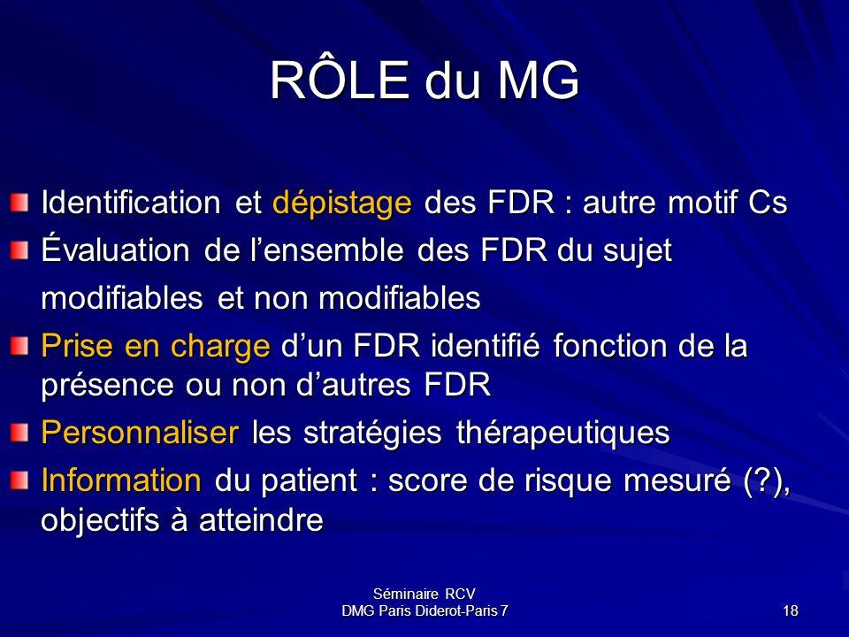 Séminaire RCV DMG Paris Diderot-Paris 7