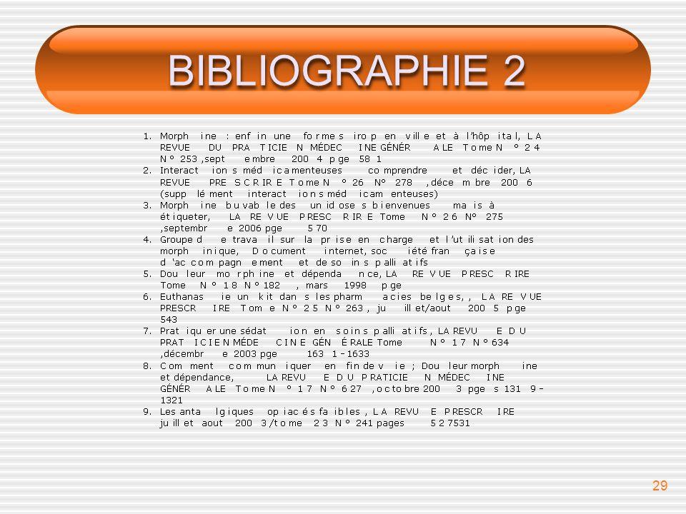 BIBLIOGRAPHIE 2 bibliographie