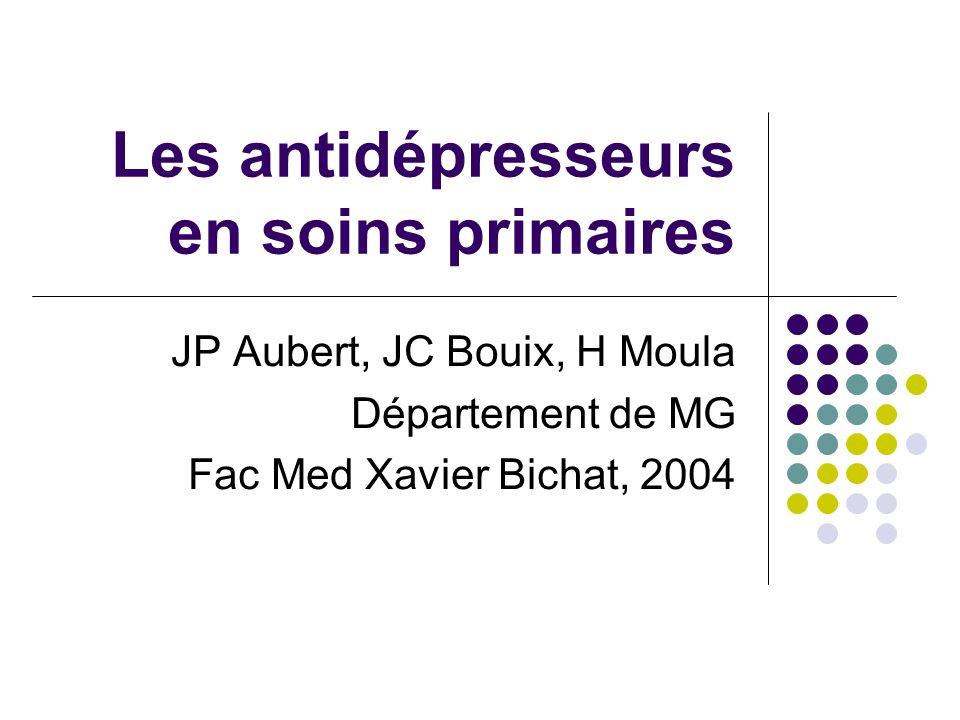 Les antidépresseurs en soins primaires