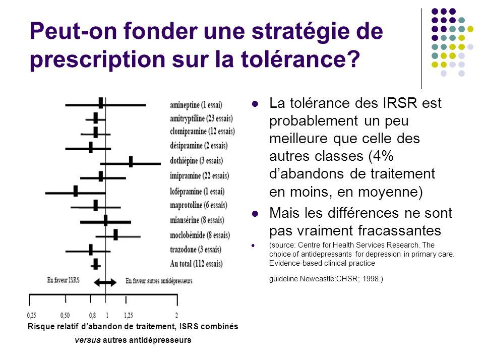 Peut-on fonder une stratégie de prescription sur la tolérance