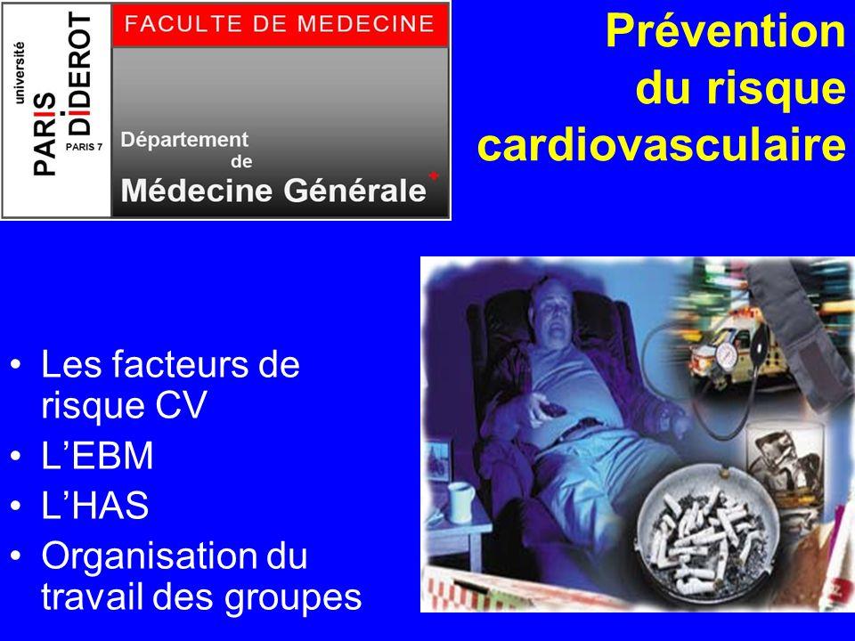 Prévention du risque cardiovasculaire