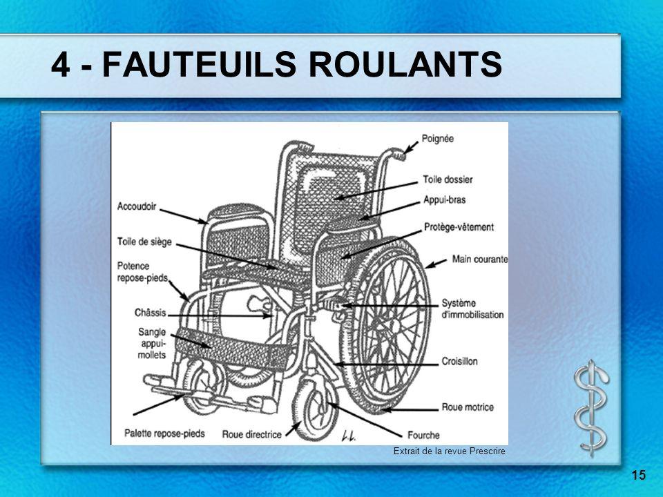 4 - FAUTEUILS ROULANTS Extrait de la revue Prescrire