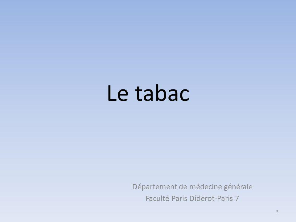 Département de médecine générale Faculté Paris Diderot-Paris 7