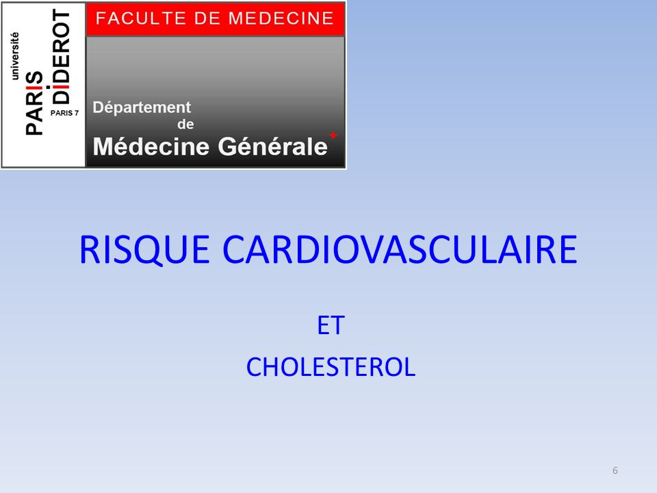 RISQUE CARDIOVASCULAIRE
