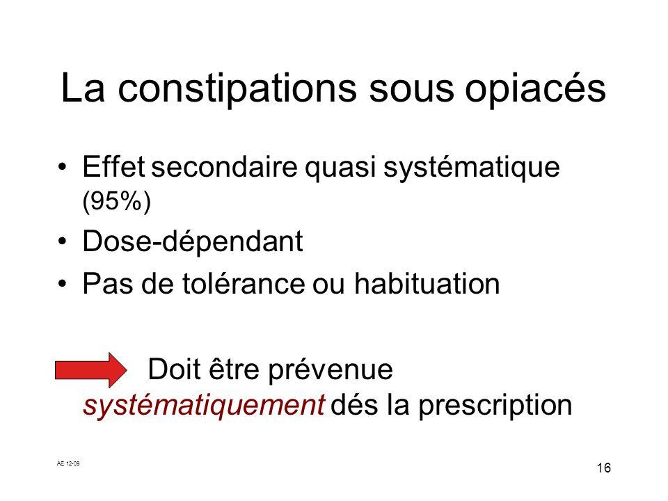 La constipations sous opiacés