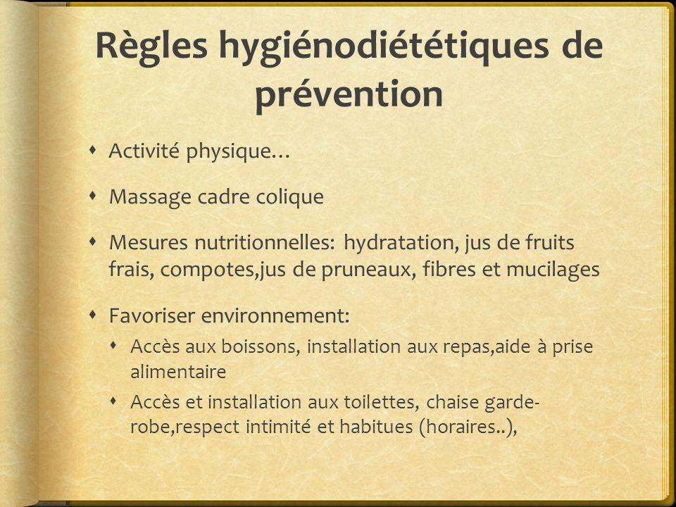 Règles hygiénodiététiques de prévention