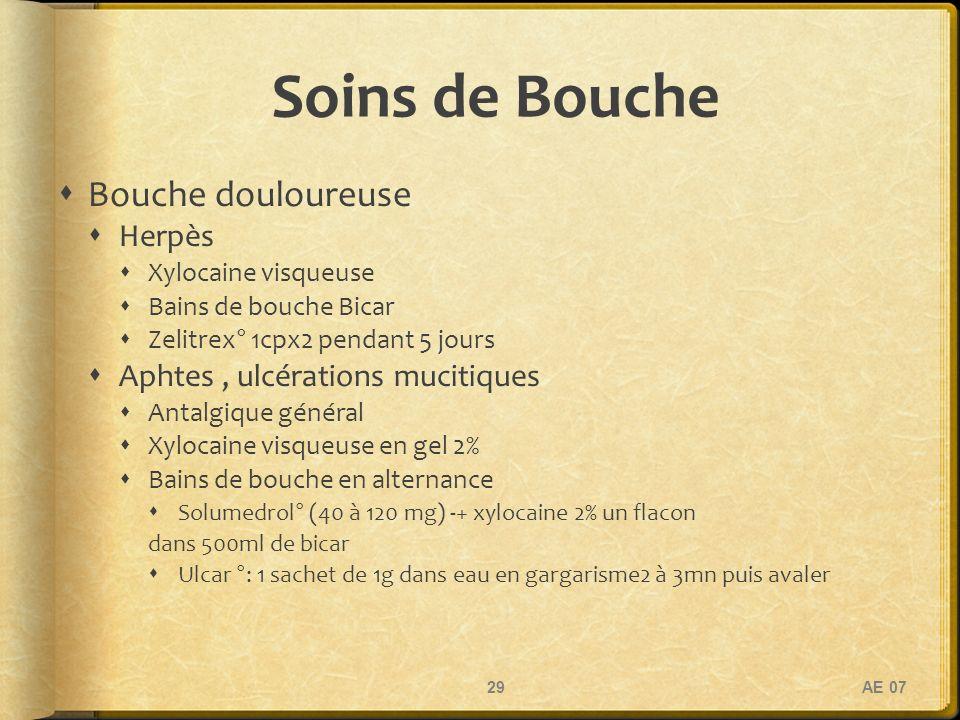 Soins de Bouche Bouche douloureuse Herpès