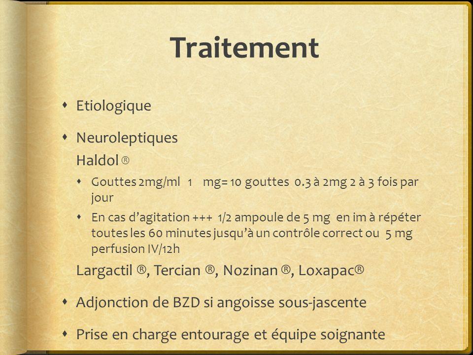 Traitement Etiologique Neuroleptiques Haldol ®